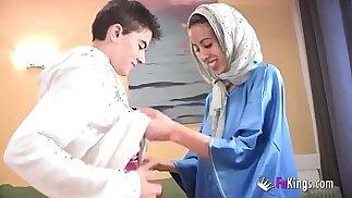 We surprise Jordi by gettin him his first Arab girl! Skinny brunette teen hijab