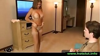 HotWifeRio TANNED MOTHER CATCHES SON JERKING OFF TO HER VIDEO BANGS