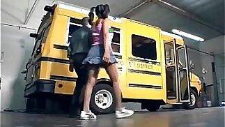Black chick fucking on the school bus