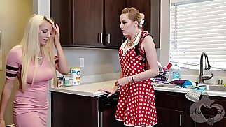 Mother helps her Daughter Move on from Ex Realistic Strapon Scene