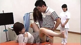 Adorable Oriental babe gets fucked in the doctor's office